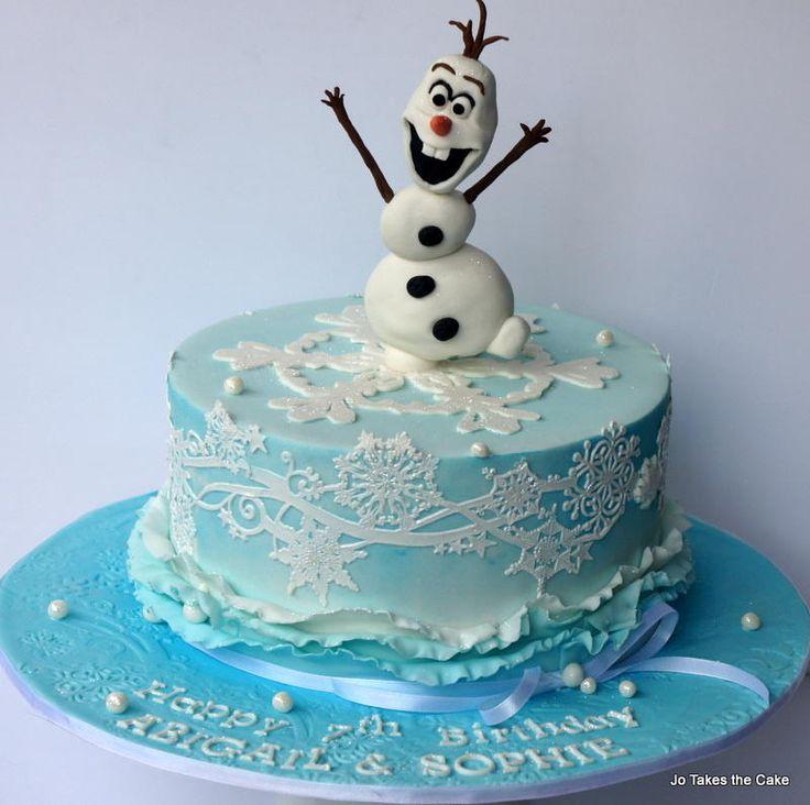 Happy Olaf - Cake by JoTakestheCake