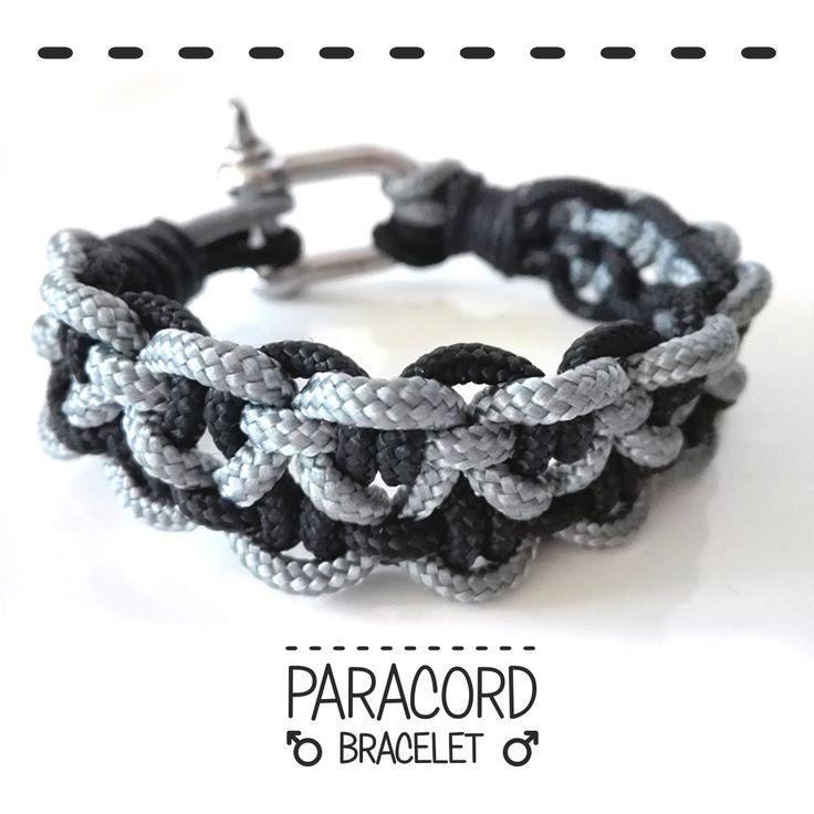 Paracord bracelet. Bracelet for man. Bracciale uomo. di FabylaStore su Etsy