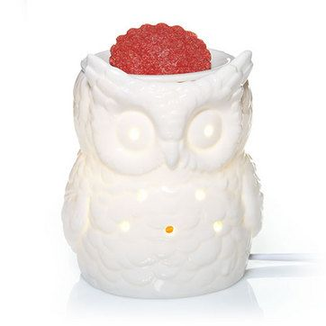 Everyday Ceramic White Owl Electric Wax Melts Warmer from Yankee Candle