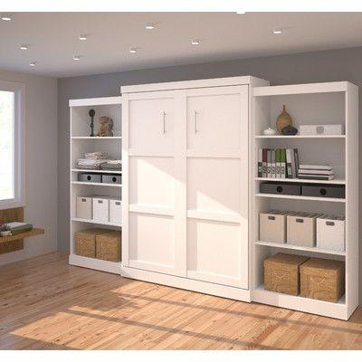 Bestar Queen Storage Murphy Bed | Wayfair