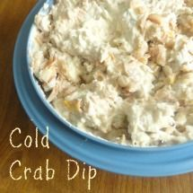 Cold Crab Dip  Recipe type:  Ingredients  2 (8-ounce) packages cream cheese  ½ cup sour cream  3 tablespoons minced fresh chives or green onions  2 tablespoons parsley  1 tablespoon prepared horseradish  4 teaspoons fresh lemon juice  2 teaspoons Worcestershire sauce  ½ teaspoon salt  ½ teaspoon ground black pepper  1 pound fresh lump crab meat, picked free of shell   Check this out and copy it where you live: http://whatsitkaeats.tumblr.com/ commentary on repins: http://vimeo.com/100882178