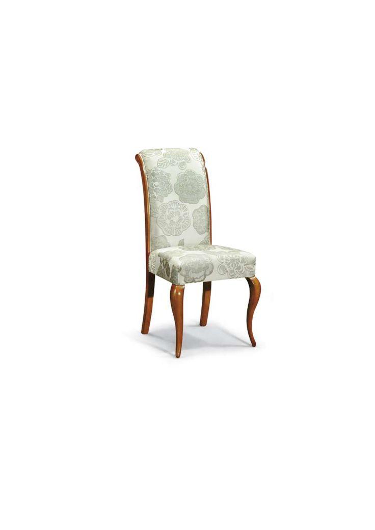 Scaun din lemn masiv art 506s Upholstered Chair Meggoirini Santino Collection
