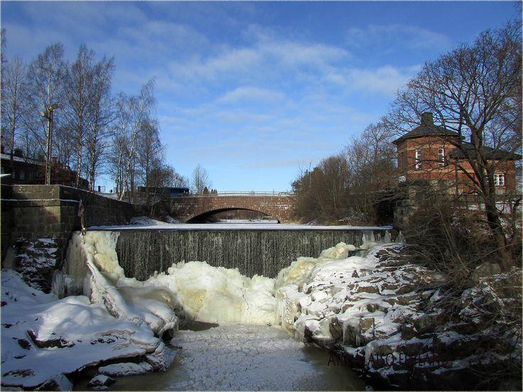 Landscape from Vanhankaupunginkoski Helsinki February 2017 by Aili Alaiso