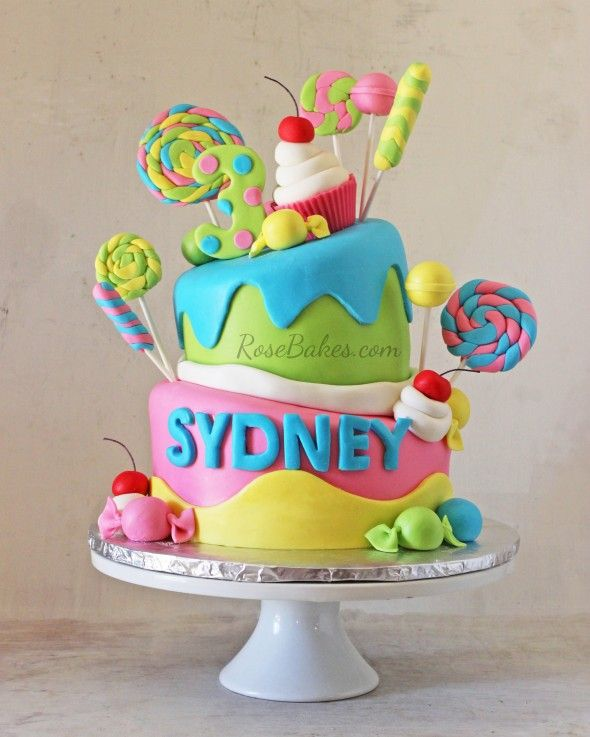 Wonky Candy Cake #cake #cupcake