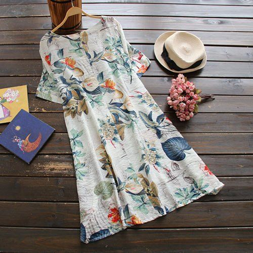 Cupshe Force Of Nature Plant Casual Dress