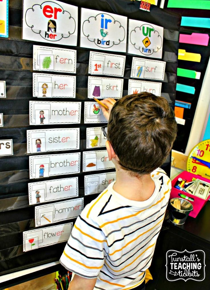 Read and Match Pocket Chart Cards - Tunstall's Teaching Tidbits er ir ur, r controlled, pocket chart phonics, spelling pattern cards