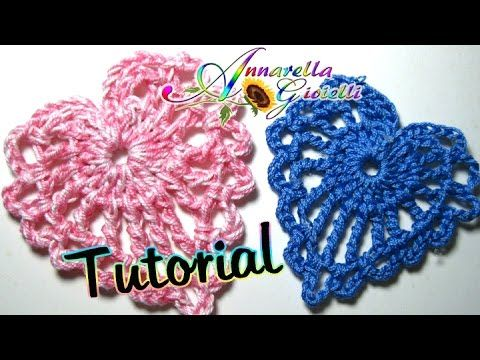Tutorial piccolo cuore all'uncinetto | How to crochet a heart