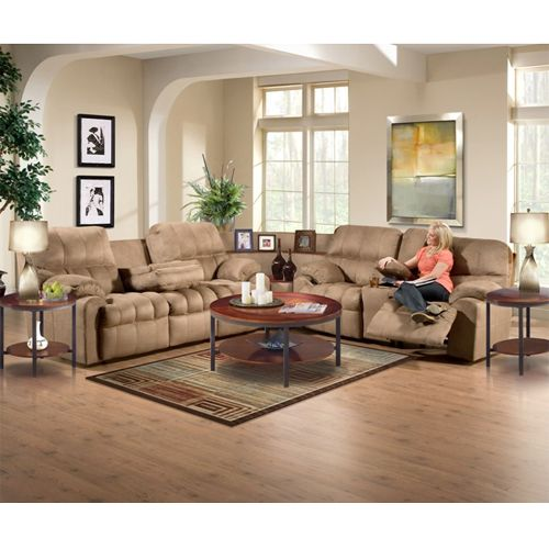 Coffee Tables For Sectional Sofas aarons - woodhaven tahoe ii sectional sofa group | furniture