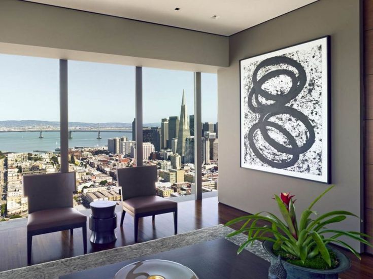 design ideas black and white wall art in a gray living room sea view