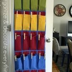 Shoe organizer used in the kitchen