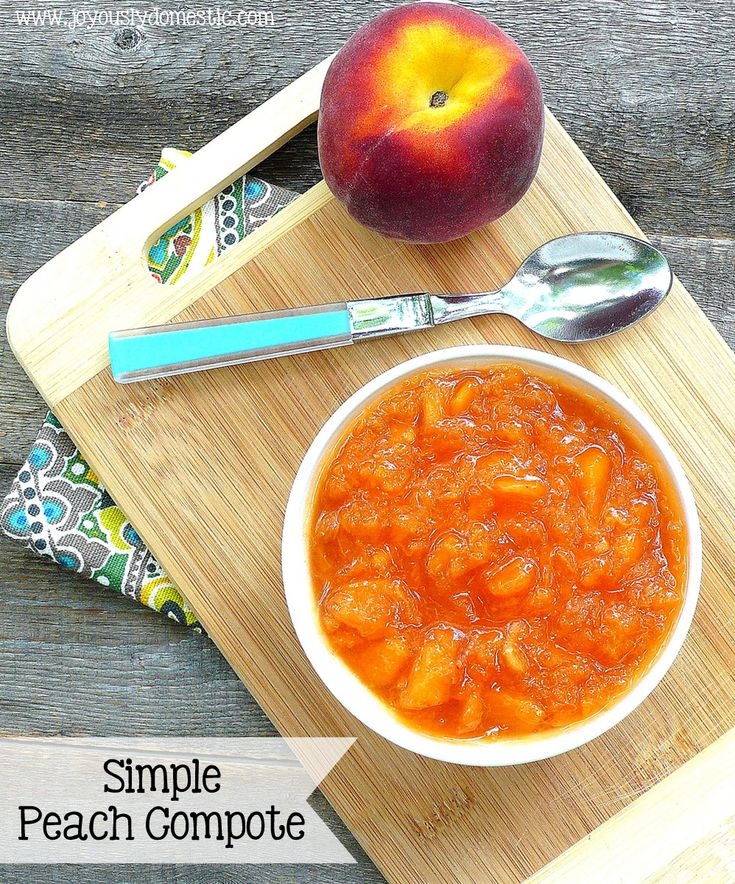 Joyously Domestic: Simple Peach Compote