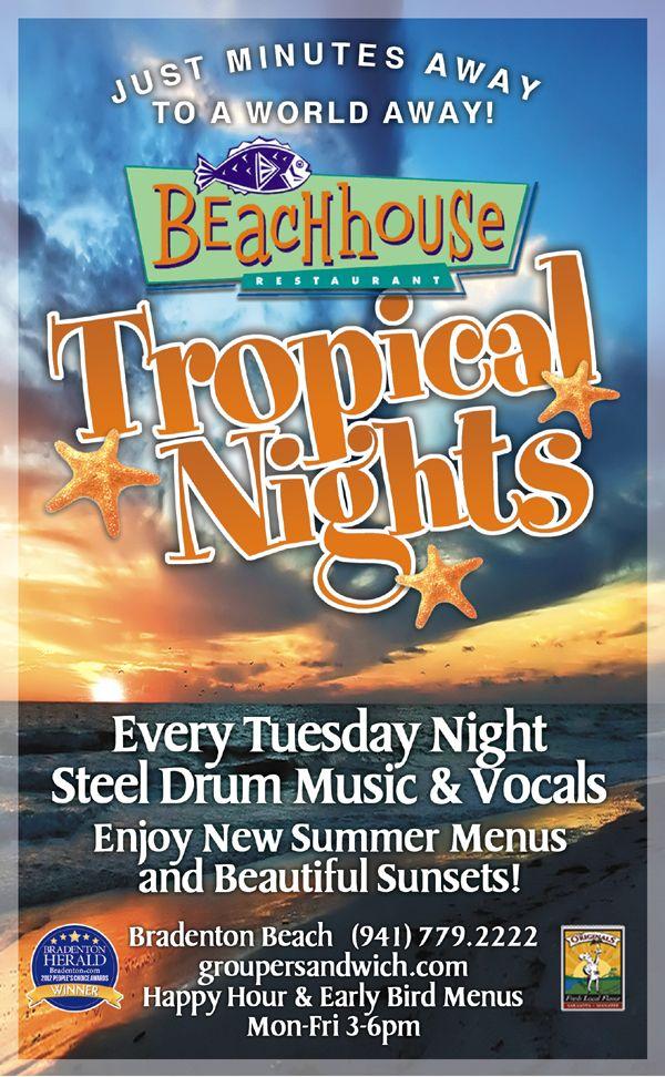 Party at the Beach House Restaurant, Bradenton Beach, FL