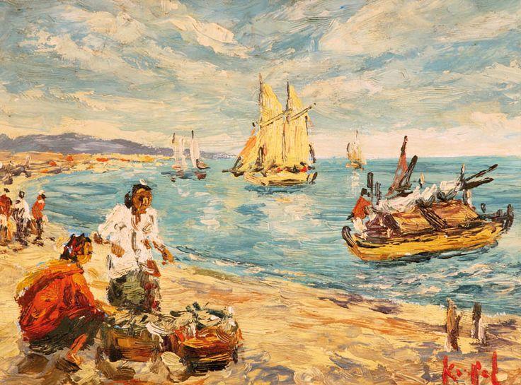 Koempoel Sujatno (Ngawi, 1912 – Batu, 1987) - Nelayan