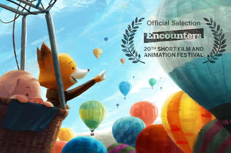 Fox and Pig will be visiting the city of Bristol in the UK! Here is a shot of them visiting the Bristol Balloon fiesta that just took place there! We are excited to screen The Dam Keeper at the Encounters Short and Animation Festival!