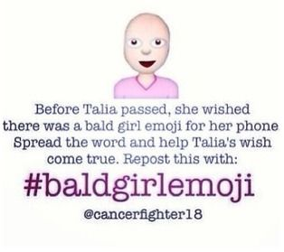Repin to your most seen board!! #baldgirlemoji this isn't really about bullying but this is a very popular board.