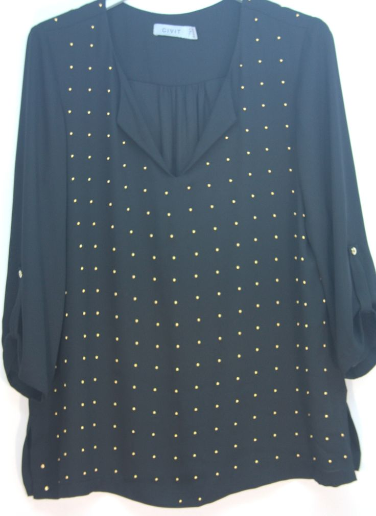 gold studed blouse