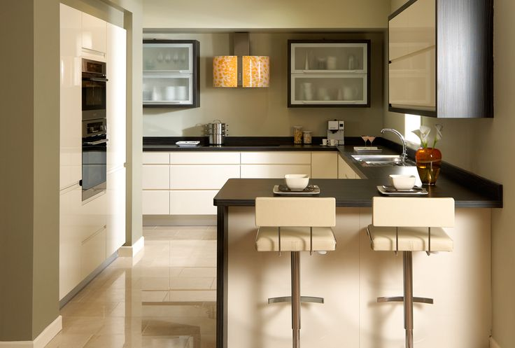 Kitchen Ideas Cream Gloss opus handleless cream gloss kitchen | home ideas | pinterest