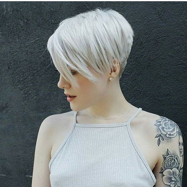 Blonde Pixie With A Full Sleeve Loving This Look Sarahb