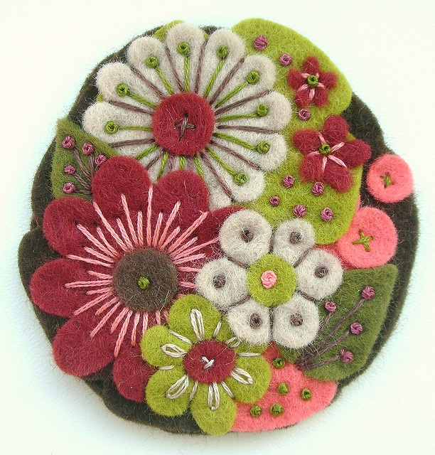 felt & embroidery Definitely thinking of using the embellishments on this to make my peers look unique