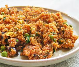 Recipe of the Week: Spanish Quinoa - variation on the Spanish rice served in Mexican restaurants - but so much better.