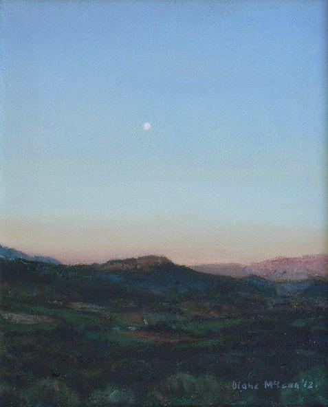 Diane McLean De Rust twilight (2012), oil on canvas, 302 x 252 mm.