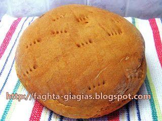 Ψωμί Χωριάτικο Προζυμένιο (βασική συνταγή)