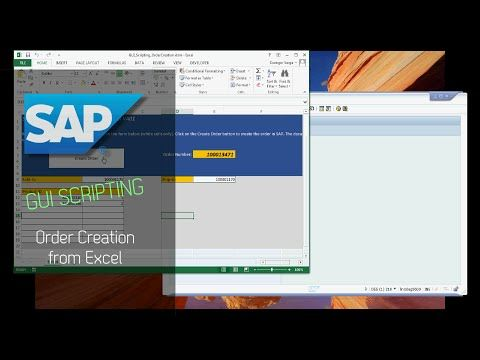 SAP GUI Scripting - Order Creation from Excel  #automation #process automation