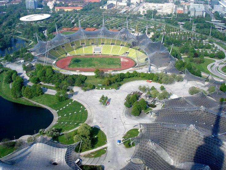 Olympiastadion, Olympiapark, München, Bayern, Deutschland architekt: Günther Behnisch, Frei Otto