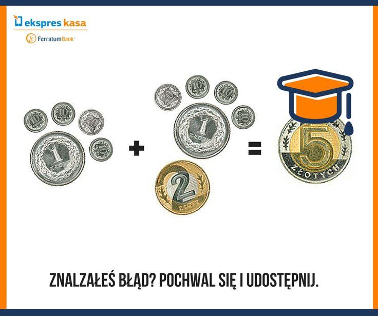 Umiejętność sprawnego liczenia pieniędzy to #dobrypatent! Zobacz, ile zajmie Ci odszukanie błędu :D #zagadka