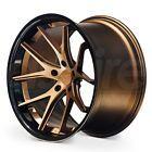 One 20x9 Ferrada FR2 5x120 35 Matte Bronze Black Lip Wheels Rims