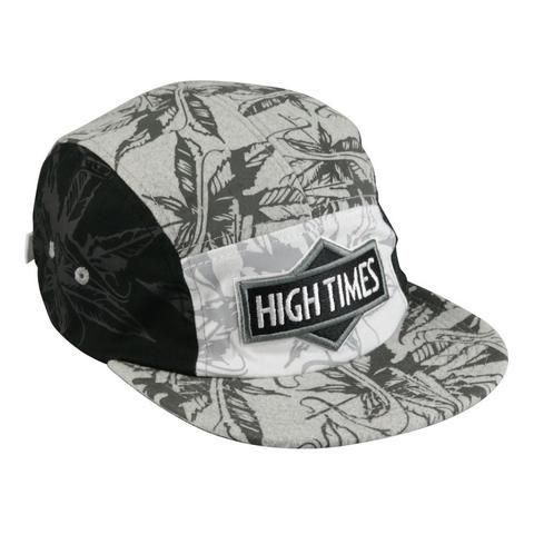 High Times® 5 Panel Snap Back Hat - Black & White