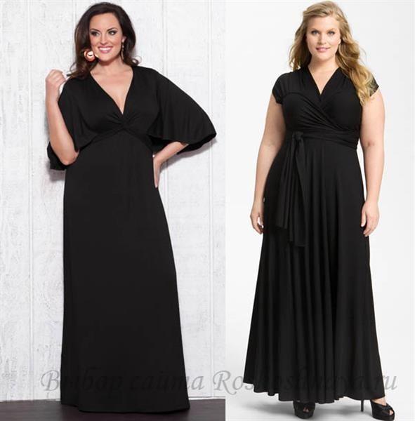 Маленькое черное платье для женщин средней полноты