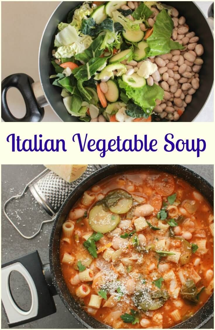 Italian Vegetable Soup, a delicious good for you full of veggies soup recipe, fast, easy,vegan and vegetarian the perfect comfort food soup. via /https/://it.pinterest.com/Italianinkitchn/