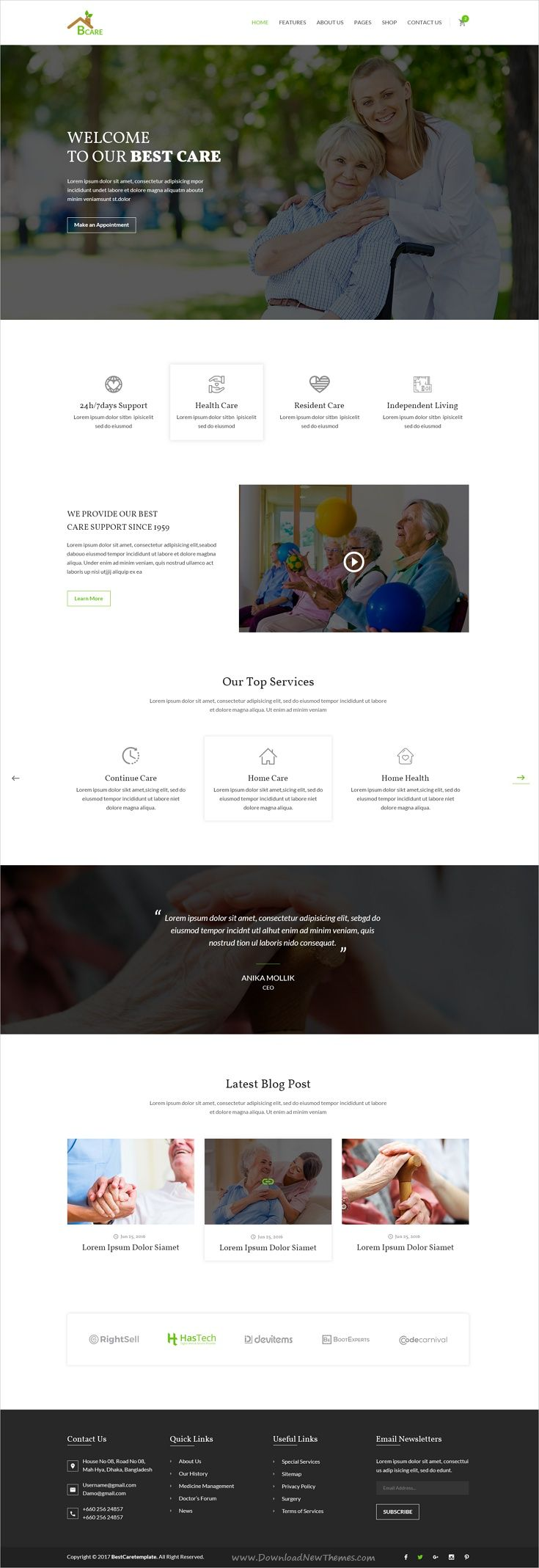 Bcare is clean and modern design #Photoshop template for #senior #care service website with 12 layered PSD pages download now > https://themeforest.net/item/bcare-senior-care-psd-template/19905086?ref=Datasata