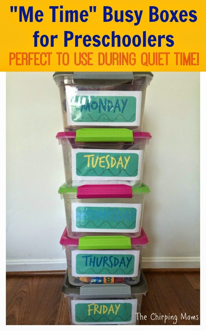 Me Time Busy Box Idea for Preschoolers || The Chirping Moms