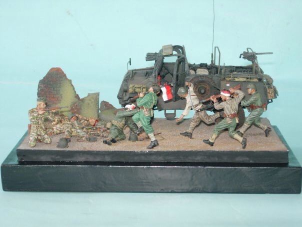 1/35 scale KNIL fighting TNI 1945, by ademodelart