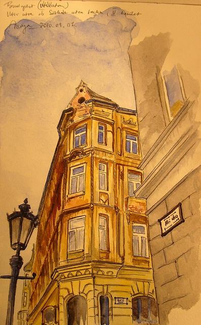 Budapest sketch by picturesofmaya, via Flickr