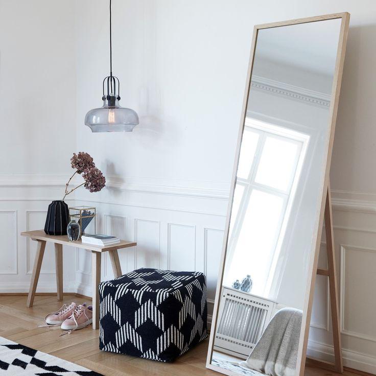 Hübsch Lamp Glass & Metal Grey/Black | Design Is This