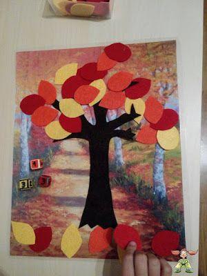 Súper PT: Árbol de Otoño: ABN con hojas