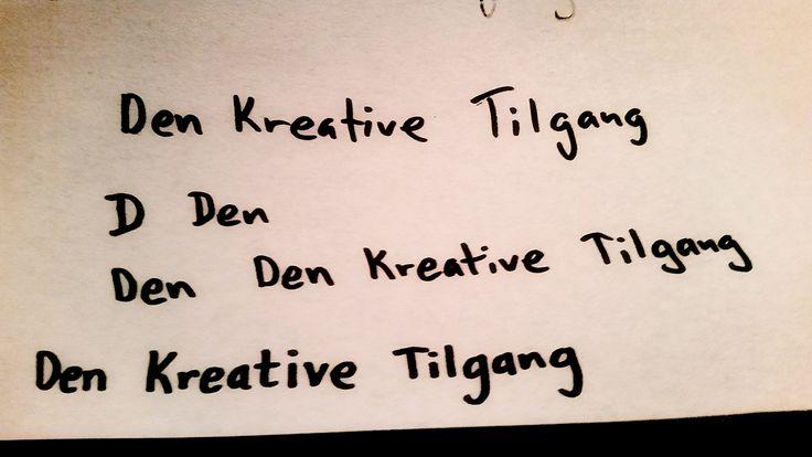 Den Kreative Tilgang Logotegning