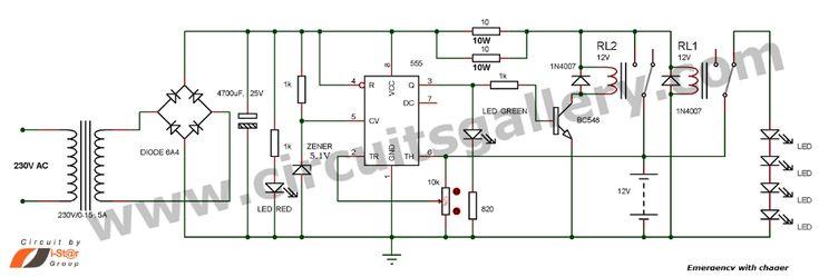 Free Wiring Diagram: 12v Emergency Light Circuit | Diseño ...
