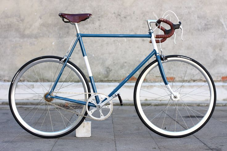 "Bici singlespeed ""Remiganti"" - Un rapporto, due freni. Biascagne Cicli Singlespeed & Classic Bikes color combination fixed bike inspiration saddle leather handlebar custom"