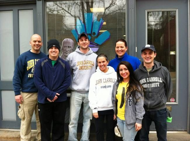 Members of the Pittsburgh Alumni Chapter posed for a photo with John Carroll after a service project to clean up the historic neighborhood of Lawrenceville. April is the designated month of service at John Carroll University. Special thanks to our Pittsburgh Chapter for giving back!