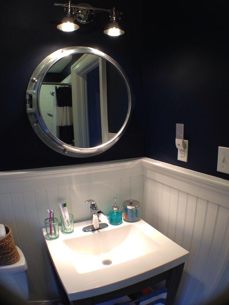 Nautical bathroom mirror: special aspects of the sea style | Bathroom designs ideas