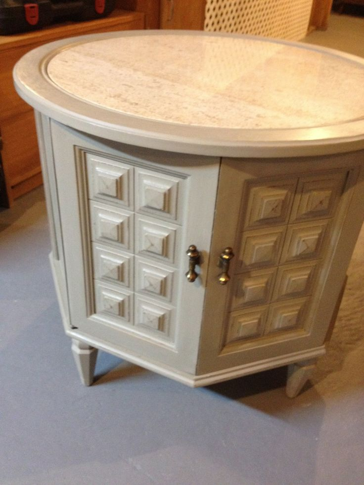 Round Marble Top end table $90.00. Available at Sweet Inspirations, 225 Farnsworth Ave, Bordentown, NJ 08505 (609) 424-3006. For more information or more pictures email info.Soldier58@gmail.com or SweetInspirations@gmail.com.