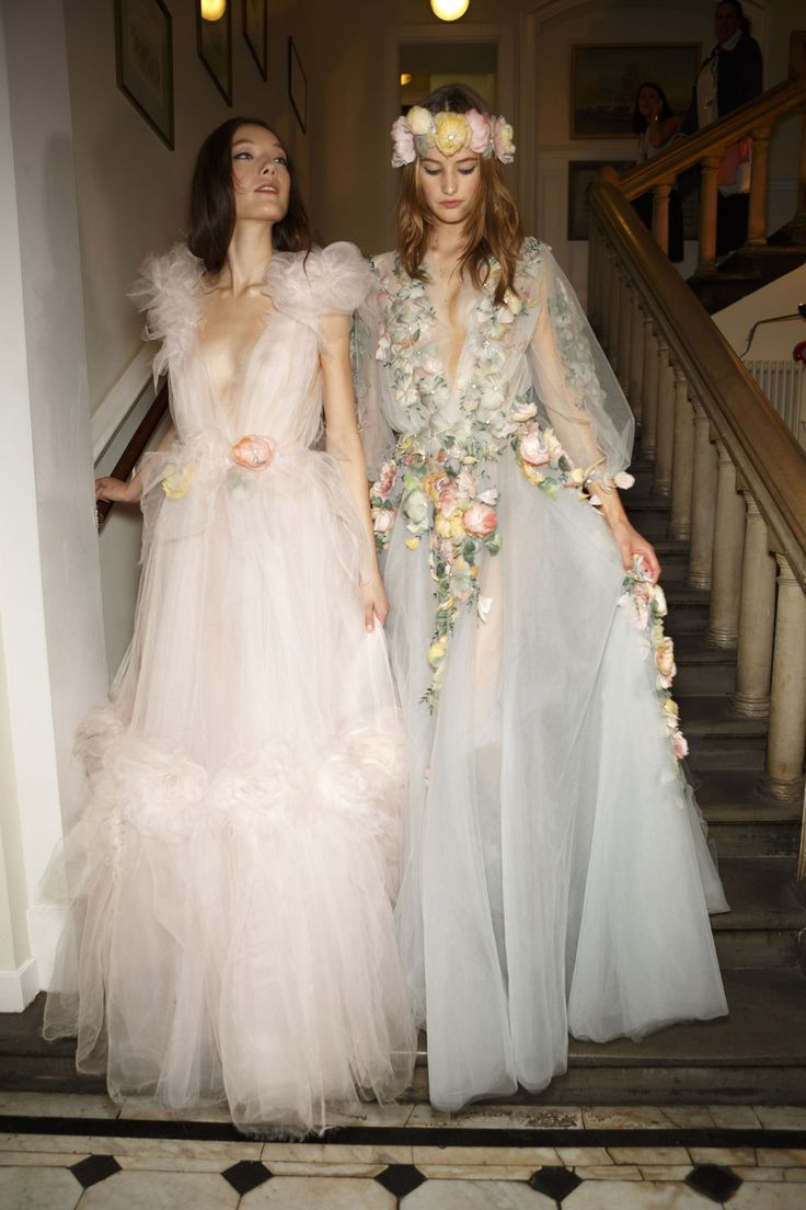 marchesa wedding dress marchesa wedding dresses Backstage at Marchesa Spring LANE Wedding Style Inspiration