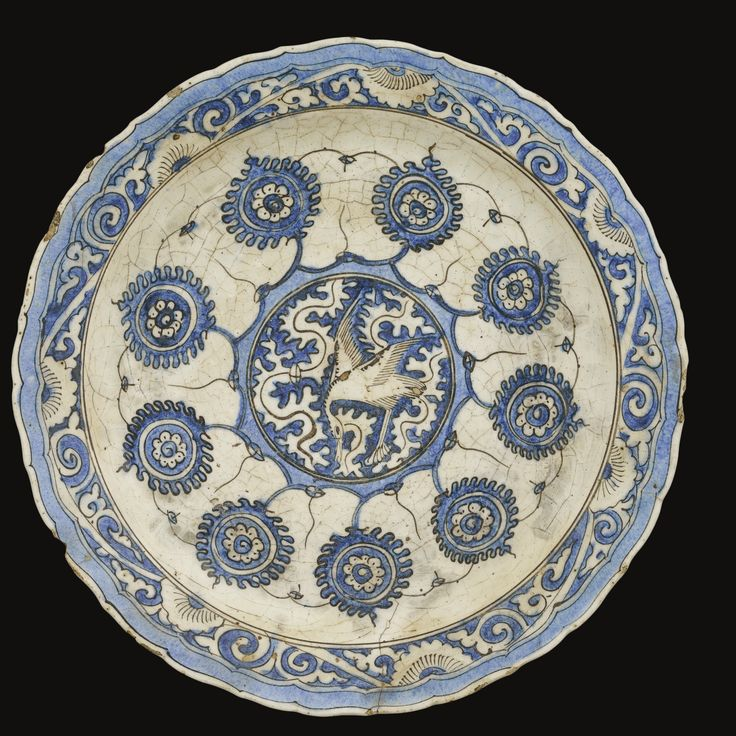 A Safavid blue and white dish, Persia, 17th century |