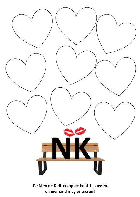 Kern 8 - NK In de hartjes schrijven de leerlingen woorden met -nk