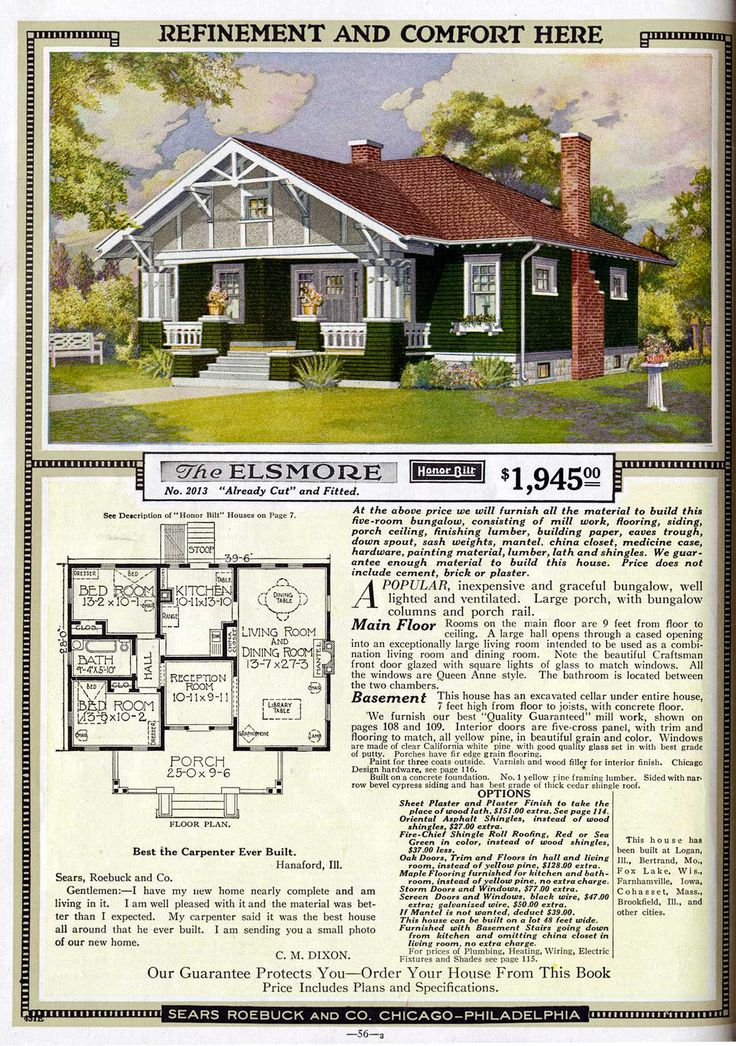 sears roebuck house plan c 1919 - 1919 House Plans