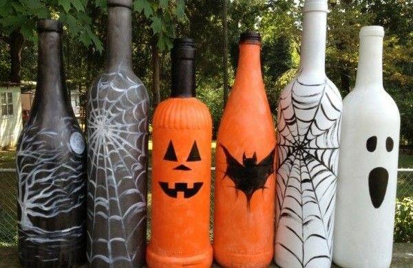 die besten 25 halloween flaschen ideen auf pinterest halloween kost m billig g nstige. Black Bedroom Furniture Sets. Home Design Ideas